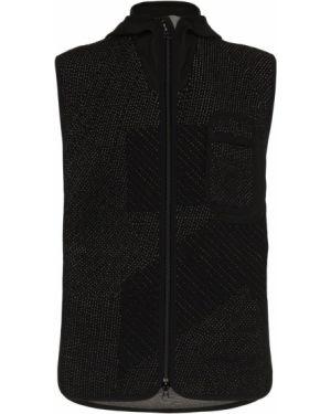 Нейлоновая черная жилетка с капюшоном на молнии Byborre
