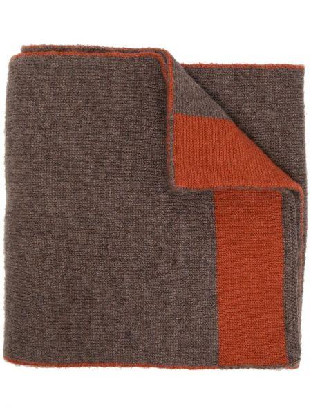 Brązowy z kaszmiru szalik Dell'oglio
