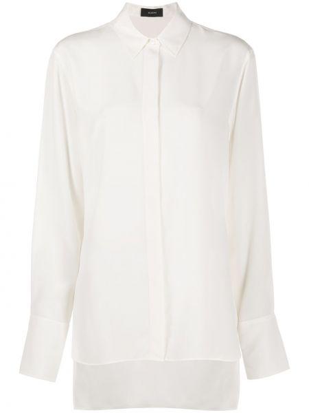 Шелковая классическая рубашка с длинными рукавами с воротником Joseph