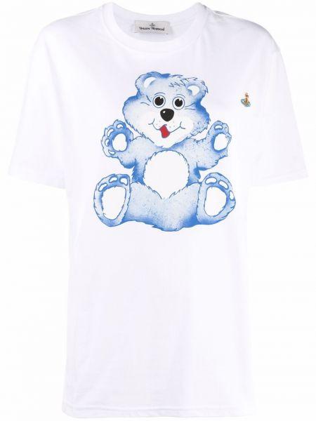 Белая футболка короткая Vivienne Westwood