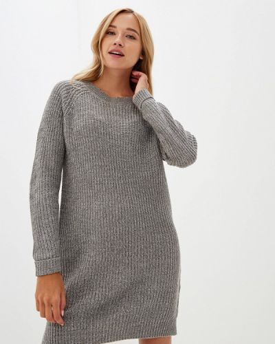 Платье серое вязаное Noisy May
