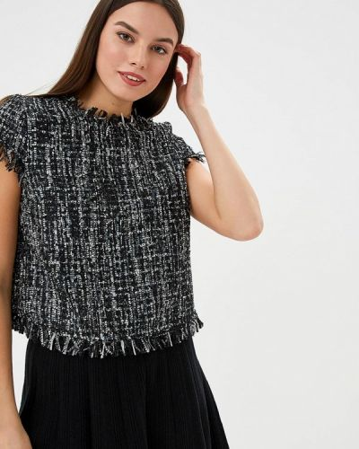 Блузка с коротким рукавом черная Trucco