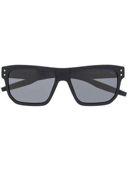 Прямые муслиновые черные солнцезащитные очки прямоугольные Puma