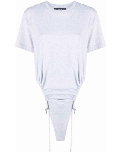 Хлопковая серая футболка с короткими рукавами Y Project