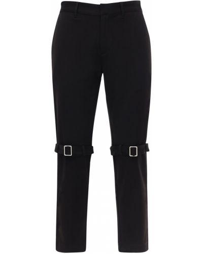 Czarne spodnie bawełniane klamry Boy London By Shane Gonzales