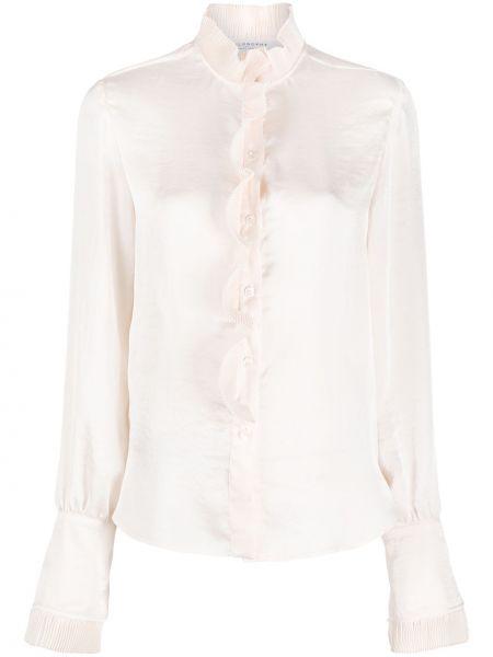 С рукавами блузка с длинным рукавом с оборками с воротником на пуговицах Philosophy Di Lorenzo Serafini