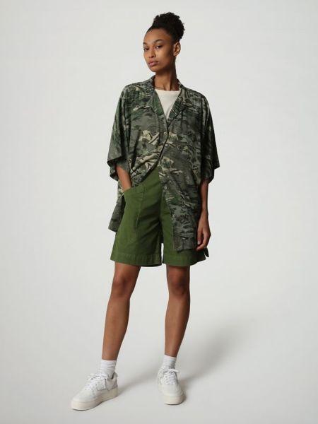 Зеленая блузка с длинными рукавами Napapijri