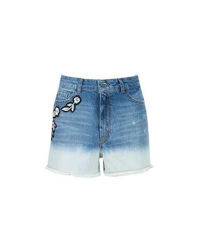 Джинсовые шорты синий Twinset