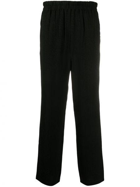 Черные брюки вельветовые с карманами Roberto Cavalli