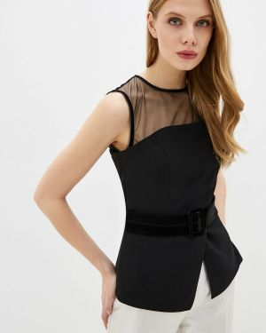 Блузка с коротким рукавом черная Love Republic
