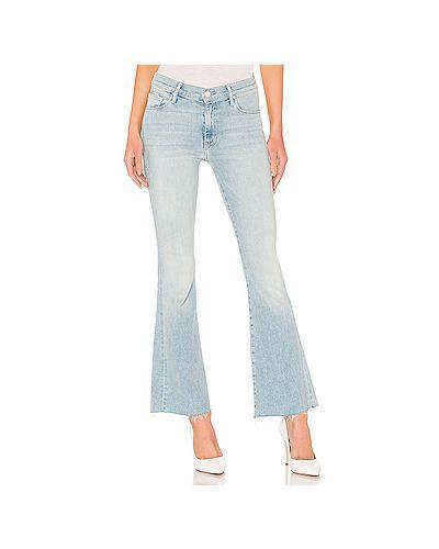 Расклешенные джинсы в полоску синие Mother