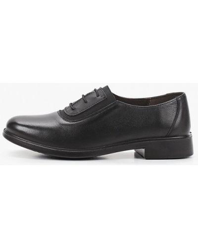 Черные кожаные ботинки Makfine
