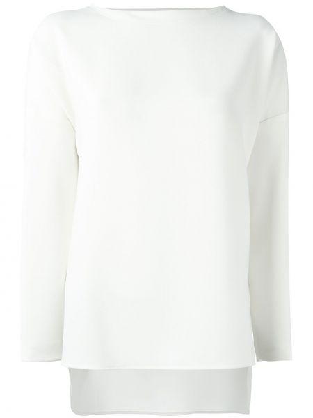 Белая блузка с длинным рукавом с длинными рукавами Alberto Biani