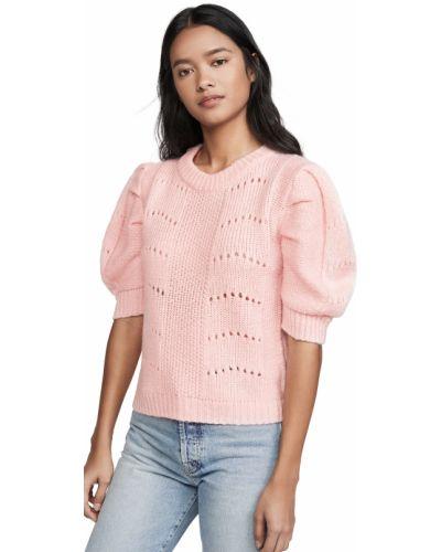 Акриловый розовый свитер круглый English Factory