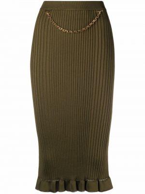 Spódnica z wiskozy - zielona Givenchy