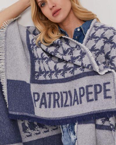 Sweter wełniany granatowy Patrizia Pepe