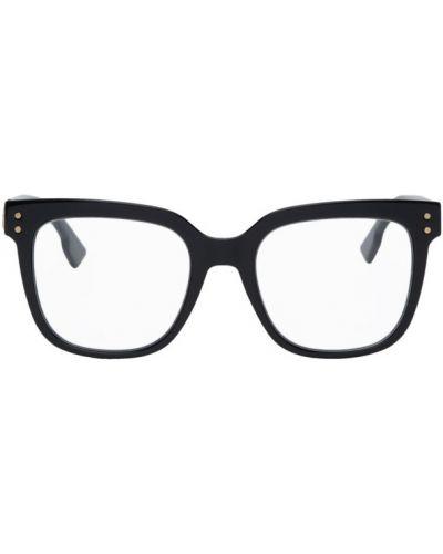 Кожаные черные очки для зрения квадратные Dior