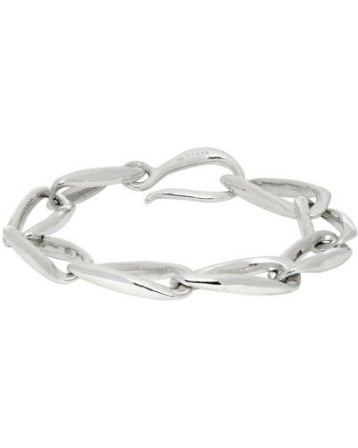 Классический серебряный браслет на крючках Faris