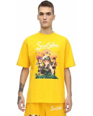 Żółty t-shirt bawełniany Sunset Soldiers