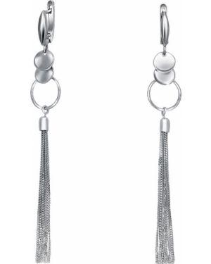 Серьги серебристые - серебряные Silver Wings