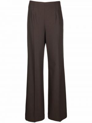 Шерстяные брюки - коричневые Lautre Chose