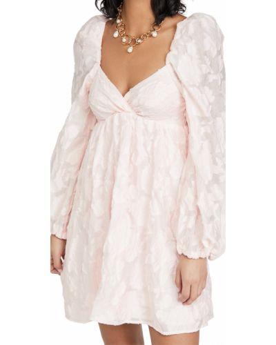 Розовое платье мини с декольте из вискозы Sister Jane