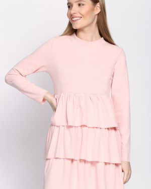 Różowa sukienka dzianinowa Multu
