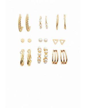 Золотые серьги серьги-кольца золотой Stradivarius