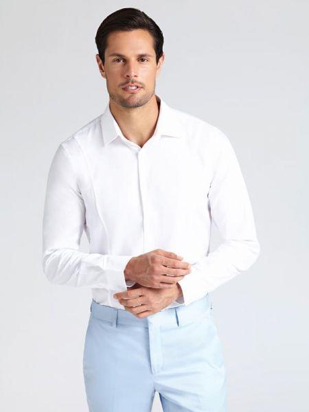 Koszula klasyczna z kołnierzem na przyciskach Guess