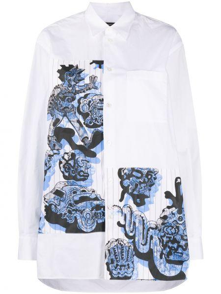 Белая классическая рубашка с воротником на пуговицах с карманами Stella Mccartney