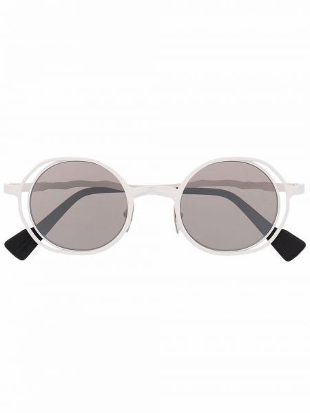 Солнцезащитные очки металлические - белые Kuboraum