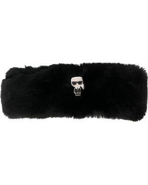 Ободок из искусственного меха - черный Karl Lagerfeld