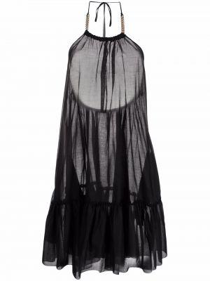 Платье с открытой спиной - черное Stella Mccartney