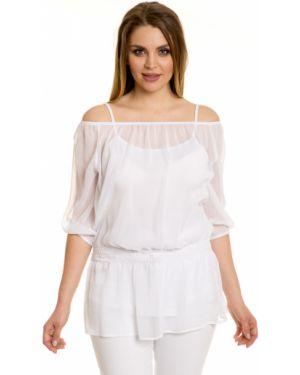 Блузка с открытыми плечами с рукавом реглан большой Novita
