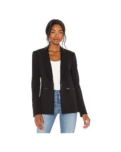 Черная куртка на молнии с карманами с разрезом Veronica Beard