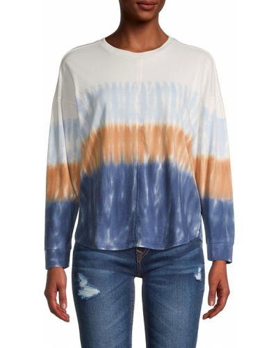Хлопковая синяя футболка с длинными рукавами Madewell
