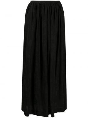 Плиссированная черная юбка миди из вискозы Uma Wang