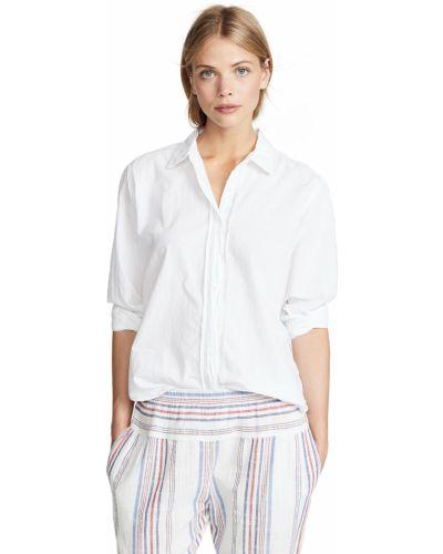 Хлопковая белая рубашка с длинными рукавами Xírena