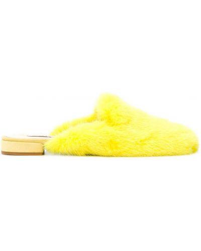 Мюли кожаные желтый Natasha Zinko