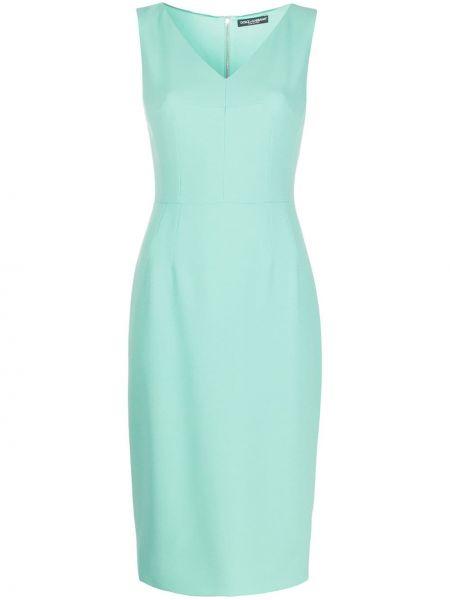 Sukienka zielona o prostym kroju Dolce And Gabbana