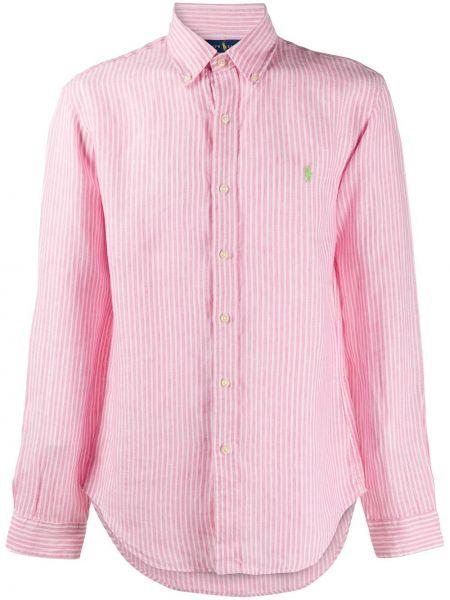 Koszula z długim rękawem klasyczna z paskami Ralph Lauren
