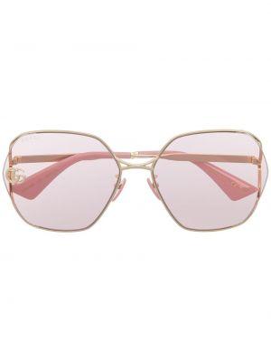 Желтые солнцезащитные очки квадратные металлические Gucci Eyewear