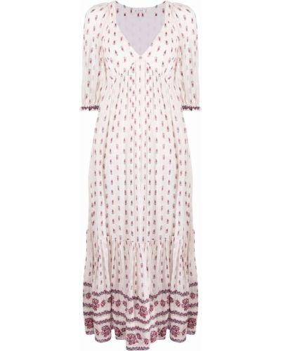 Расклешенное платье в цветочный принт с вырезом Masscob