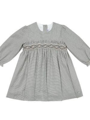 Ватное хлопковое серое платье Tartine Et Chocolat