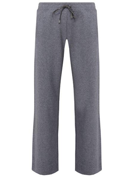 Кашемировые серые спортивные брюки с карманами свободного кроя Capobianco