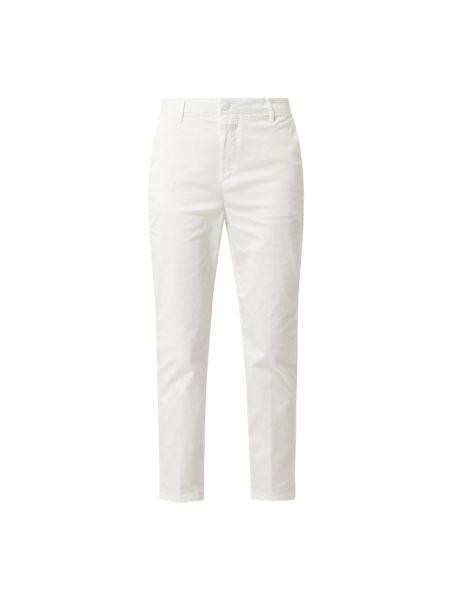 Bawełna bawełna biały chinosy z kieszeniami Closed