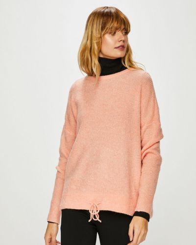 Sweter z wzorem czerwony Vero Moda