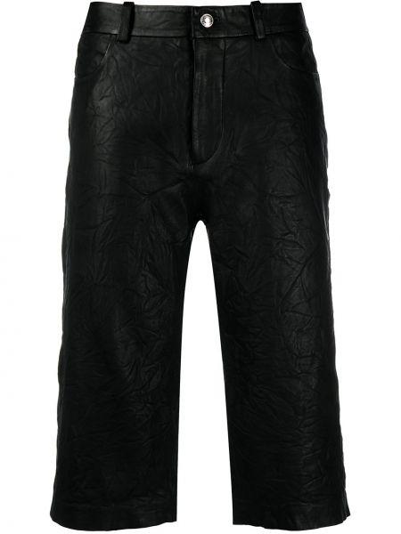 Черные кожаные шорты с карманами Zadig&voltaire