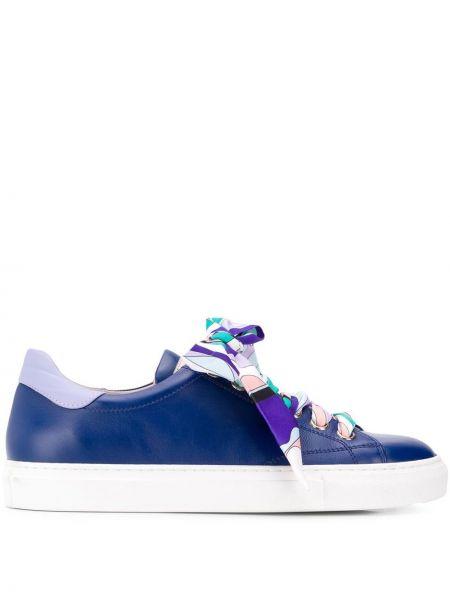 Skórzane sneakersy ciemnoniebieski Emilio Pucci