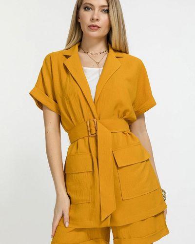 Костюмный желтый костюм Clever Woman Studio
